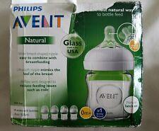 Philips Avent Natural Glass Baby Bottle 4oz, 4 bottles