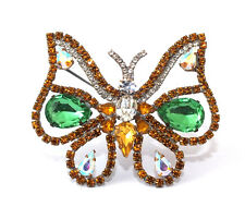 Schmetterling Strassbrosche - Multicolor - Unikat aus Gablonz/Böhmen - swa549