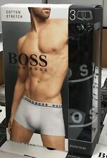 3 X HUGO BOSS Men's Cotton Boxer Shorts Trunk Underwear M Black NEW