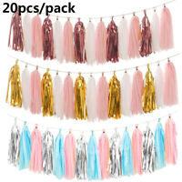 Shower Party Garland Hanging Banners Tissue Paper Tassel Wedding Decoration