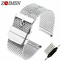 Steel Band Stainless Watch Strap Bracelet Wrist Mesh Link Milanese 18 20 22 24mm