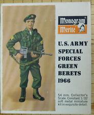 Monogram Merite 54mm U.S. Army Green Berets 1966