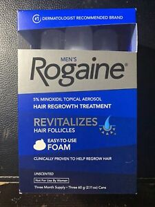 Mens Rogaine 5% Minoxidil Foam Hair Loss and Regrowth Topical Treatment EXP 1/21