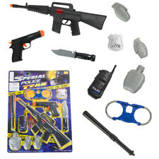 10 Pcs Police Pretend Play Set Combat Tactical Rifle Toy Gun For Kids Boy Gift
