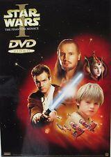 "STAR WARS EPISODE I ""PHANTOM MENACE"" MOVIE DVD POSTER - Head Shots of Characters"