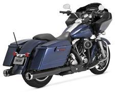 Vance & Hines Monster Round Cat Black Slip-On Mufflers 2009-2013 Harley FLHTCU