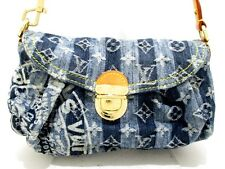 Authentic LOUIS VUITTON Monogram Denim Mini Pleaty Raye M95333 Shoulder Bag