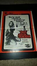 Trip With The Teacher Zalman King Rare Original Promo Poster Ad Framed!