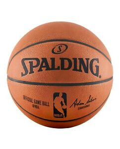"""Spalding NBA Official Game Ball genuine Leather Size 7 / 29.5"""" 74-569Z"""