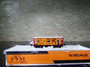 N SCALE FOX VALLEY MODELS CABOOSE B&O CHESSIE SYSTEM 1973-83 RD.C-2403