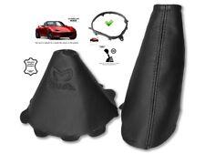 Gear & Handbrake Gaiter For Mazda MX5 Roadster ND 14-18 Black Embroidery + Frame