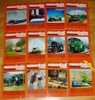 12x Eisenbahn Modellbahn 1992 Magazin komplett Hefte 1-12 Sammlung Modellbau Lok