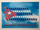 Political POSTER.65th Aniversario movimiento Cuba por la paz.Rare collectible.2