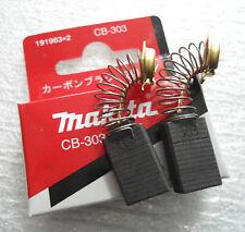 Carbon Brushes Pair Set Makita CB-303 To Fit 191963-2 9227CB 2107F Original