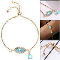 Women's Fashion Jewelry Designer Gold Evil Eye Bracelet Charm Turkish Gift
