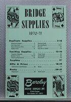 Vintage 1970-71 Barclay Bridge Supplies Pamphlet