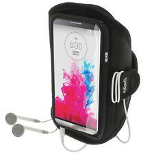 Schwarz Running Jogging Sport Armband für LG G3 D855 D850 D851 Fitness Gym Tasche