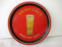 """Golden Eagle Beer India'S First Choice Vintage Advertising Tin Tray Barware """"F"""