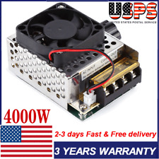 4000w Scr Voltage Regulator Dimmer Motor Speed Control Withfan Ac110v To 220v