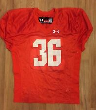 NWT Under Armour Men's M Football Game Practice Jersey Orange Mesh #36
