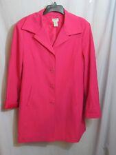 Women's Retro 3/4 Length Car Coat Jacket JPR Separates Rose Pink Coral Lined 16