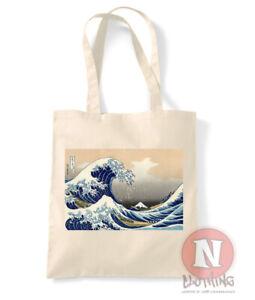 Great wave off Kanagawa tote bag shopping 100% cotton enviromental aesthetic