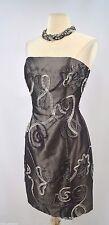 Jessica McClintock Gunne Sax strapless Dress sexy knee gown embellished 10 VTG