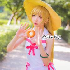 Bakemonogatari Oshino Shinobu Blond Gelb Cosplay 70cm Lolita Aniem Perücke Wig