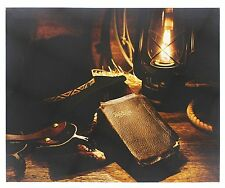 """COWBOY HAT & BIBLE Lighted LED Christmas Canvas, 17"""" x 14"""", by Oak Street"""