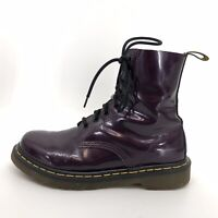 Doc Martens Women's Size 7 Purple Boot Combat Classic Lace Up Chunky Leather
