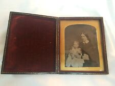 1860's Young women/Mother holding her Child Daguerrotype photograph