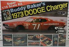 MPC 1/16 BUDDY BAKER DODGE CHARGER BOYS NASCAR WINSTON CUP K&K 1973 MODEL KIT
