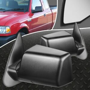 FOR 06-11 MAZDA B2300 FORD RANGER PAIR OE STYLE MANUAL SIDE VIEW DOOR MIRROR