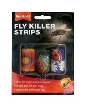 New Rentokil Fly Papers Killer Strips Pack 3 Indoor Outdoor Use FF105