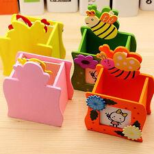 Stationery Supplies Wood Pens Holder Pencil Box Desk/Desktop Organizer Kid Gifts