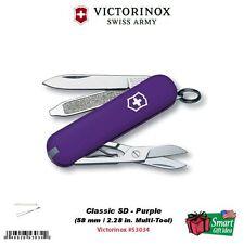 Victorinox Swiss Army Purple, Classic SD, 58mm Multi-Tool Knife #53034