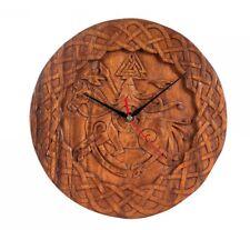 Horloge Odin sur Sleipnir avec Wotan notes-Corbeaux Hugin & Munin-handgeschnitzt