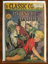 """RARE VINTAGE CLASSICS ILLUSTRATED ISSUE #29 """"THE PRINCE AND THE PAUPER""""."""