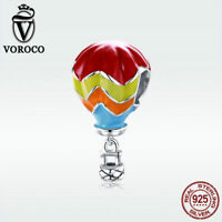 Voroco Colorful S925 Sterling Silver Pendant Turkish Balloon Charm For Bracelet