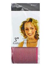 "Diane D5027 Purple IONIC CERAMIC THERMAL 3"" HAIR ROLLERS CURLERS SELF GRIP"