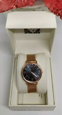 Authentic ANNE KLEIN Rose Gold-Tone Stainless Steel Mesh Bracelet Watch, 34mm