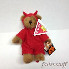 VTG Devil Costume Bear Plush Trick or Treat Teddy Halloween Lovey RARE HTF 90's