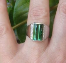 $8,750 Ponte Veccio Natural Blue Green Tourmaline Diamonds 18ct White Gold Ring!