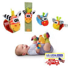 NEW Baby Rattle Bug Finders Infant Soft Toy Developmental Wrist Strap Foot Socks