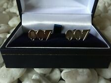 007 JAMES BOND CUFFLINKS SILVER IN BOX COLLECTABLE NEW