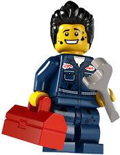 Lego minifig series 6 MECHANIC city train car wheels