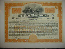 $50,000 Michigan Central Railroad Company Bond Stock Certificate
