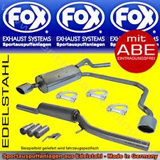 FOX ANLAGE AUSPUFF Duplex Nissan 350Z 3,5l 115x85 R/L