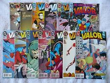 VALOR • mixed lot of 13 comics • #1 to #21 (DC 1992-94) • Mint!