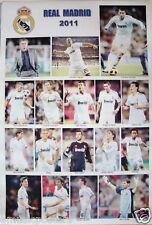 """REAL MADRID FOOTBALL """"17 ACTION SHOTS"""" 2011 POSTER - RONALDO, XAVI ALONSO, PEPE"""